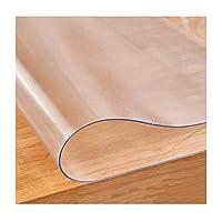 FUSHOU-チェアマット,半透明滑り止め事務所堅木張りの床の保護,自由自在にカット可能PVC多機能家庭テーブルマット,1.5mm,85x140cm