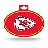 NFL Rico Industries Color Team Logo Oval Sticker, Kansas City Chiefs , 3 x 5-inches
