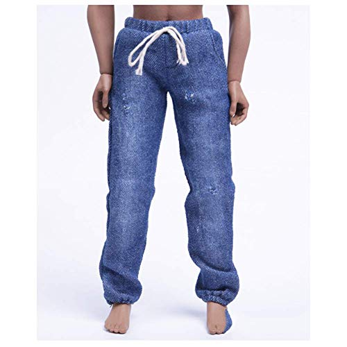 ZSMD 1/6 Scale Doll jeans nonchalante trends broek gewassen elastische sluitingen vrije riem joggingbroek voor HT VERYCOOL TTL Hottoy Play Phicen
