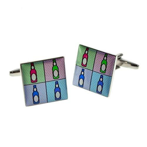 Ashton en Finch Pop Art Style flessen ontwerp manchetknopen met geschenkdoos & verzonden uit het Verenigd Koninkrijk