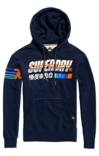 Superdry Super Surf Hood Felpa, Blu (Montana Blue Grit UJ1), Small (Taglia Produttore:S) Uomo
