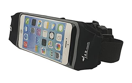 J.A.N-GreenLife Cintura da corsa per smartphone – marsupio impermeabile per telefoni cellulari, portafogli, cuffie per sport, jogging, corsa, ciclismo