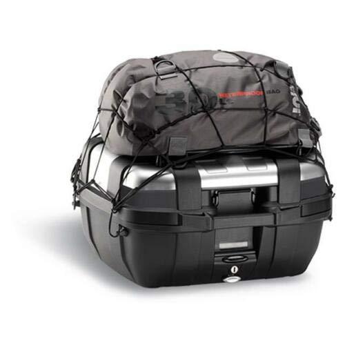 Givi T10N Filet élastique de fixation pour araignée, noir, avec fixations pour accrocher des objets sur le couvercle des valises ou porte-bagages.