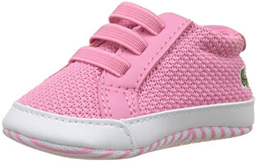 Lacoste Unisex Baby L.12.12 Crib 318 1 Cab Krabbelschuhe, Pink (Pnk/Wht F50), 19 EU