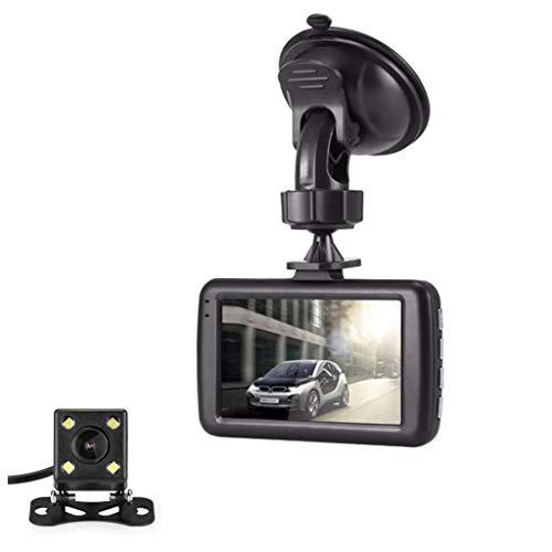 QXHELI Autokamera Dash Cams Für Autos Vorne Und Hinten Full HD Auto-Kamera Mit Nachtsicht-Weitwinkel Loop Recording G-Sensor Parken-Monitor WDR