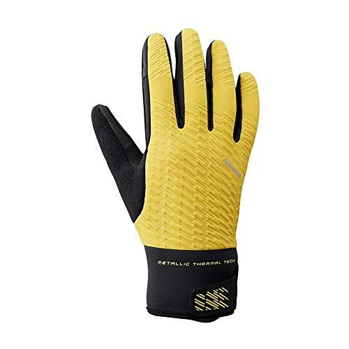 Shimano Sh Windbreak Handschuhe, Unisex, Erwachsene, Gelb, XL