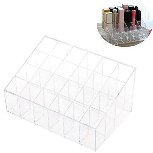 inherited Aufbewahrungsbox für Lippenstifte Kosmetik Organizer, Aufbewahrungsbox mit 24 Fächern für Make-up, Nagellack und Beautyprodukte die ideale Schminkaufbewahrung