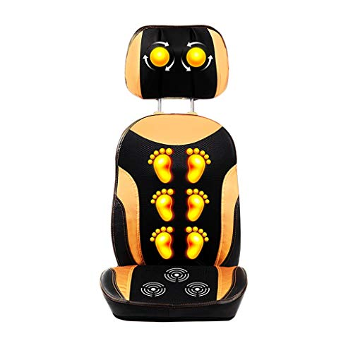 Back Massagers Massage Chair Multi-Purpose Cervical Massager Neck Heating Massage Pad Home Waist Kneading Massage Pad Give Parents The Best Gift (Color : Gold, Size : 444374cm)