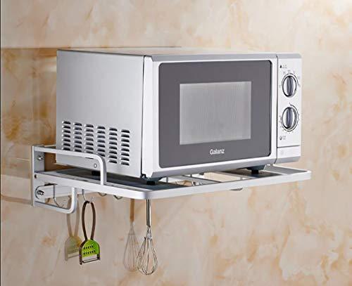 Oanzryybz Hohe Qualität Besteck Racks Regalfläche Aluminium Mikrowellenherd Rack/Wandbehang Küche Rack/Storage Shelf 2-Schicht-Bracket Küchenregal (Color : 1#)