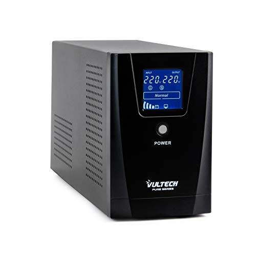 Vultech ups 1000VA Pure Line Interactive con Onda SINUSOIDALE Pura E LCD