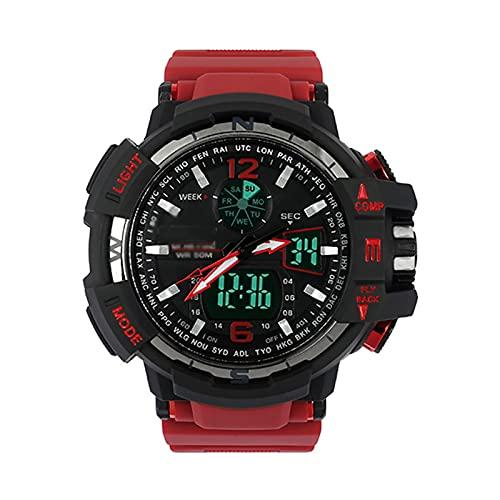 WTYU Reloj Deportivo Analógico para Hombres, Reloj Militar LED, Reloj Grande Digital Digital Aire Libre ElectróNico Fecha De Calendario Impermeable C