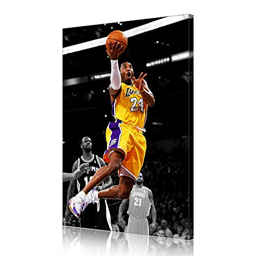 Canvas Prints Kobe Los Angeles Lakers Fans Poster Picture Basketball Wall Decor Artwork Men