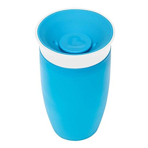 マンチキン(munchkin) べビー用 マグ こぼれない ふた 付き コップ 12カ月から 上手に飲める ミラクルカップ296ml ブルー FDMU10803