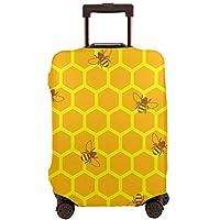 スーツケースカバー ラゲッジカバー キャリーカバー お荷物カバー 旅行 伸縮素材 洗える 蜂 幾何柄 通気性 汚れ防止 傷防止 可愛い 無地 おしゃれ 出張 旅行 21-32インチ対応