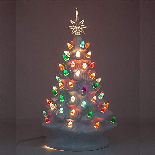 Raitron 2019 Weiß Vintage Retro Leuchten Keramik Weihnachtsbaum Mit Glühbirnen
