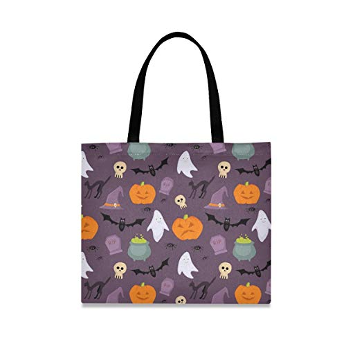 Joy Halloween Skull Reusable Shopping Tote Grocery Foldable Bag Portable Storage Shoulder Bags Handbags for Travel Women Girls