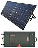AIMTOM SolarPal 100W Portable Solar Panel for PowerPal X/Pro/Rocker/Raptor Power Station, Foldable Solar Power Charger for Camping, RV, Home with QC USB, 18V DC Port and MC4 Output