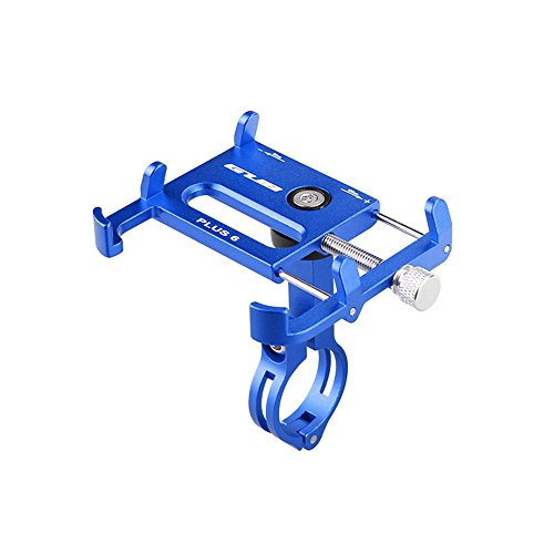 Lixada Bicicleta Teléfono Titular 360 Grado Giratorio Longitud Ajustable de Aluminio Manillar de Bicicleta de Montaje (Azul)
