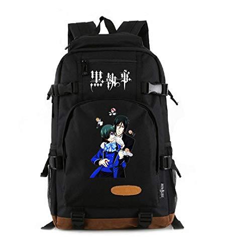 Mochila para ordenador portátil de anime para cosplay Sebastian Michaelis, mochila para ordenador portátil, mochila escolar