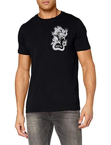 REPLAY M3387 Camiseta, 098 Negro, XXL para Hombre