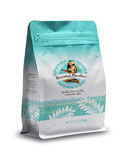 Hawaiian Paradise Coffee Chocolate Macadamia Nut Ground Coffee 12oz Bag, 100% Arabica Beans, Premium Rich Flavored , Finest Beans, Sustainably Grown & Roasted in Hawaii, USA