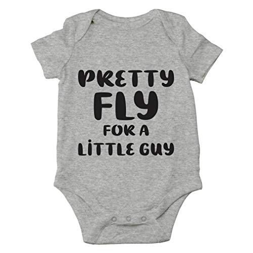 Pretty Fly For A Little Guy - Funny Parody Song, Mamas Little Man - Cute One-Piece Infant Baby Bodysuit (Newborn, Sports Grey)