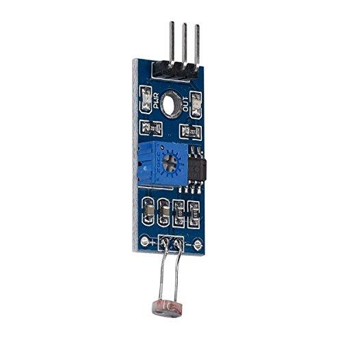 kwmobile Módulo fotodetector Sensor de luz para Arduino y Raspberry Pi - Sensor de luminosidad fotosensible - Detector de luz con Salida Digital