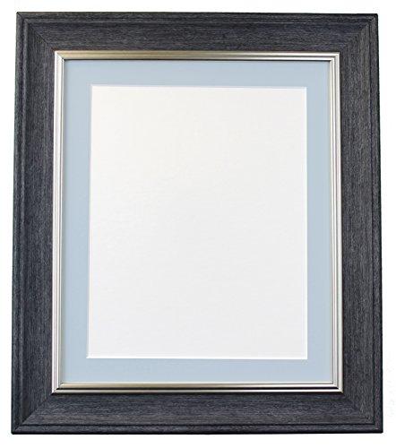 Frames By Post Scandi Vintage fotolijst Blauwe passe-partout A3 Image Size A4 antraciet