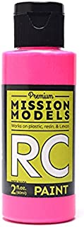 Mission Models Automobile Mmrc-051 Water-Based RC Paint 2 Oz Bottle Fluorescent Racing Pink