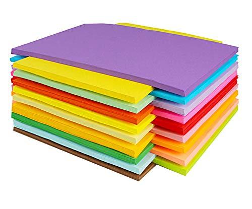 10 Farben, A4 120 g/m² ,100 Blatt Verdicken Buntpapier Farbigen A4 Kopierpapier Papier , Farbige Buntes Papier Ton-Papier, für DIY Kunst Handwerk (20 * 30cm)