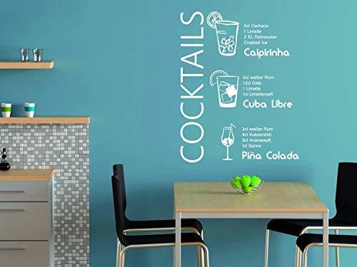 GRAZDesign Tattoo Küche Caipirinha, Sprüche für Küche Cuba Libre, Wandtattoos Küche Esszimmer Cocktails, Wandtattoo Küche Rezepte / 37x30cm / 070 schwarz