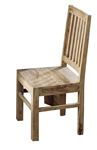 MASSIVMOEBEL24.DE Sheesham Holz massiv Möbel geölt Stuhl Massivmöbel Holz massiv braun Nature Brown #81