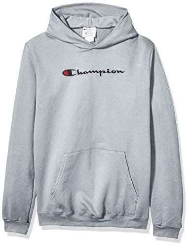 Champion Boys Unisex-Kinder Graphic Fleece Hoodie Kapuzenpulli, Leichter Stahl, Medium