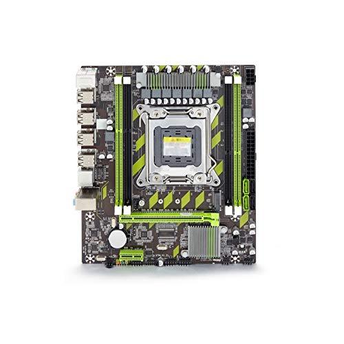 ALBBMY Procesador de la serie de la placa base para Atermiter X79 X79G Mainboard PC Gaming LGA 2011 USB2.0 SATA3 PC3 soporte REG ECC memoria y Xeon E5 procesador DDR3 Gaming Motherboard