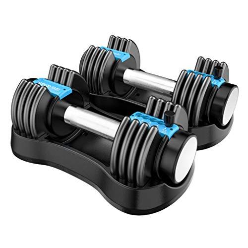 Mancuernas Extraíble con mancuernas Conjunto, de varios niveles de ajuste de peso, la aptitud eficaz entrenamiento de la fuerza, for entrenamiento de cuerpo Gimnasio en casa Pierde Peso, Peso total 24