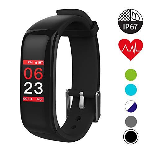 QUDER® Fitness Armband Damen und Herren - wasserdicht (IP67) - inkl. GPS - Schlafmonitor - Kalorienzähler - Herzfrequenz – Blutdruckmessung (Kinder)