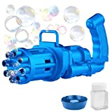 SUFATI Gatling Bubble Machine Eight Hole Automatic Bubble Maker Kids Bubble Gun 2021 Fun Gift Indoor and Outdoor Cool Toys for Boys and Girls Summer High-tech Toys