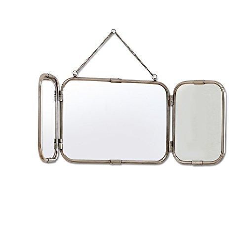 Loberon Spiegel Kacey, Messing/Spiegelglas, H/B/T ca. 29/79 / 1,5 cm, Silber