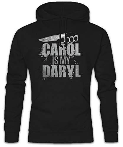 Urban Backwoods Carol is My Daryl Hoodie Kapuzenpullover Sweatshirt Schwarz Größe 2XL
