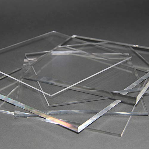 Acrylglas Zuschnitt Plexiglas Zuschnitt 2-8mm Platte/Scheibe klar/transparent (3 mm, 800 x 600 mm)