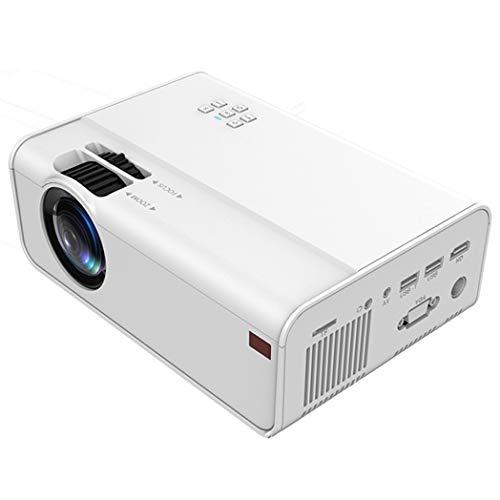 JCSW Proyector WiFi, Mini Proyector Portátil Soporte Full HD 1080P, 4000 Lúmenes Proyectores Home Cinema, Compatible con TV Stick, PS4, USB, HDMI, SD, AV, White, Q045JY