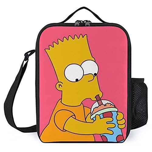 Simpsons Zaino Portatile Doppio Uso Borsa Pranzo Isolamento Termico Scatola di Stoccaggio Freddo Grande Capacità Ufficio Picnic Scu