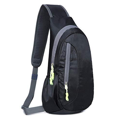 Sling Chest Bag Slim Sports Cross Body Shoulder Backpacks with Adjustable Belt for Men Women Outdoors Travel Phone
