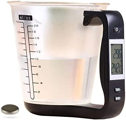 Kitchen Scale Digital Measuring Cup 1kg 600ml Food Scale Weight Scale Scales Weighing Water product image