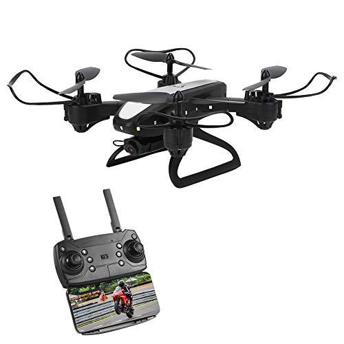 01 Drone, helicóptero RC Quadcopter HD de fotografía aérea de posicionamiento de 2,4 GHz para Juguete RC al Aire Libre(Black)