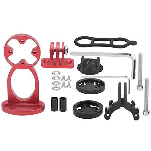 Bnineteenteam Fahrrad Computer Vorbau Verlängerungshalterung Aluminiumlegierung mit Taschenlampe Clip Halterung Adapter(rot)