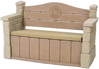 Step2 Outdoor Storage Bench - Durable Garden Deck Seat with Roomy Storage