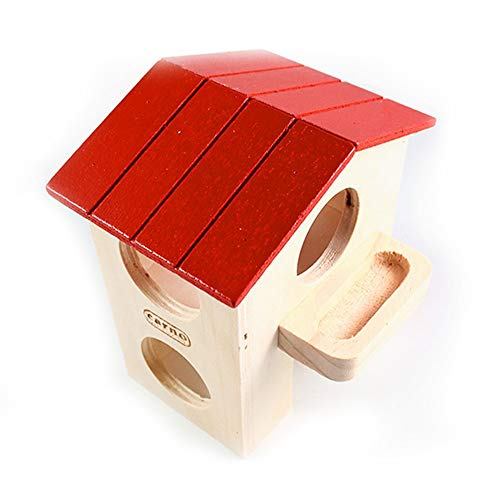 Jaula de hámster de madera Ogquaton, jaula de animales pequeña, juguete de 2 pisos, la mejor elección