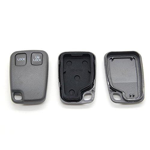 Volvo - Carcasa con mando a distancia para llave de coche compatible con Volvo S40, V40, S70, V70 y C70 (2 botones)