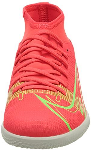 Nike JR Superfly 8 Club IC, Zapatillas de ftbol, BRT Crimson Mtlc Silver Indigo Burst White Rage Green, 36 EU